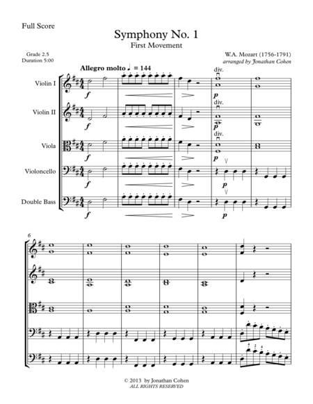 Mozart Symphony No. 1 K16 Full Score