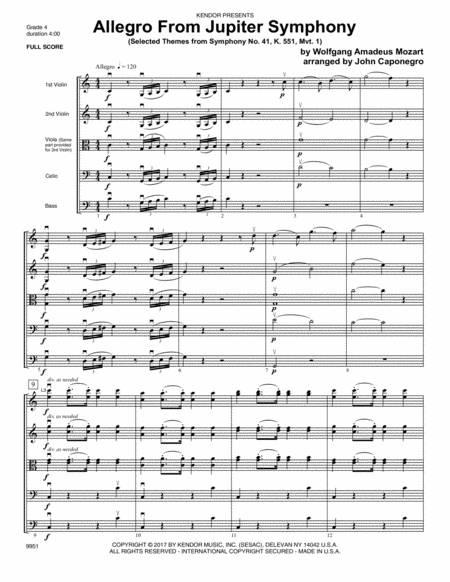 Mozart Symphony No. 41 Jupiter Allegro