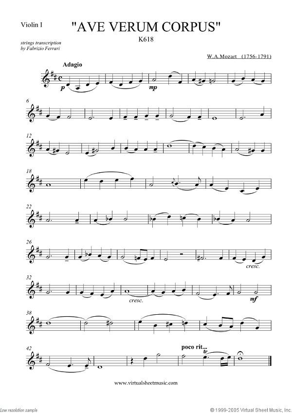 Mozart Ave Verum Corpus K. 618